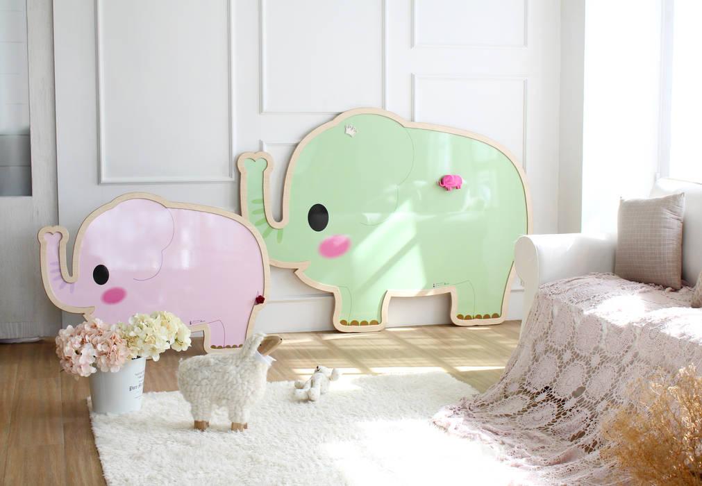 사랑스러운 아기 코끼리 코리 & 프리드 아기 코끼리 앤: (주)강경숙칠판의  아이방