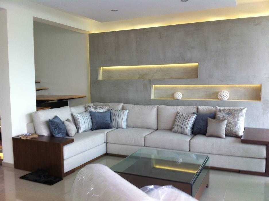 SALA DE ESTAR GHT EcoArquitectos Salas de estilo minimalista