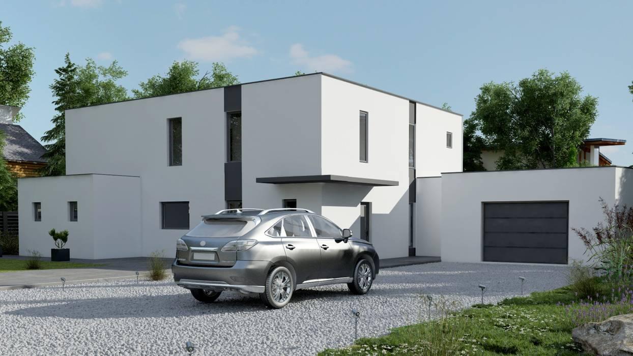 SOLUTION 3D EN ARCHITECTURE: Maisons de style  par DEC-DESIGN, Moderne