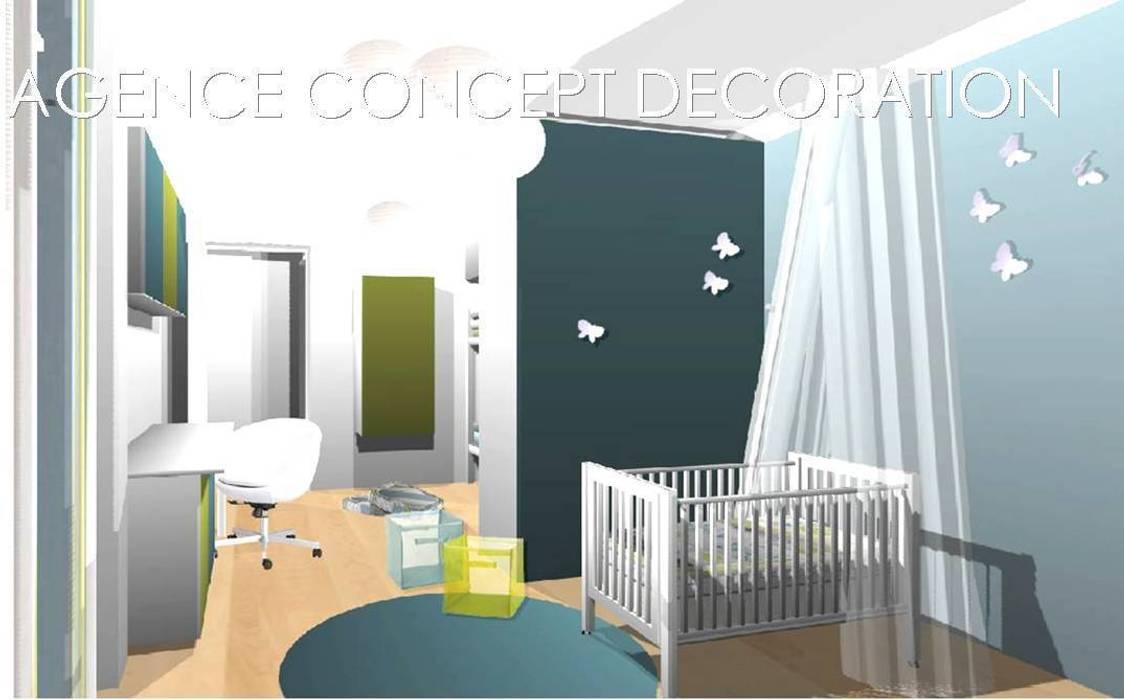Optimiser petit appartement: maisons de style par agence concept ...