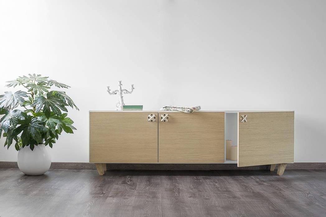 Nodo buffet soggiorno in stile in stile scandinavo di for Brugnera mobili