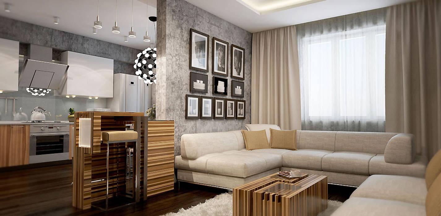 Wohnzimmer von Александра Петропавловская, Minimalistisch