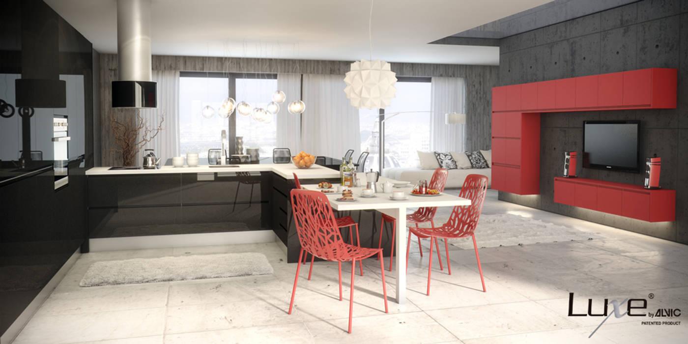 Muebles de cocina en alto brillo Luxe by Alvic. ALVIC CocinaAlmacenamiento