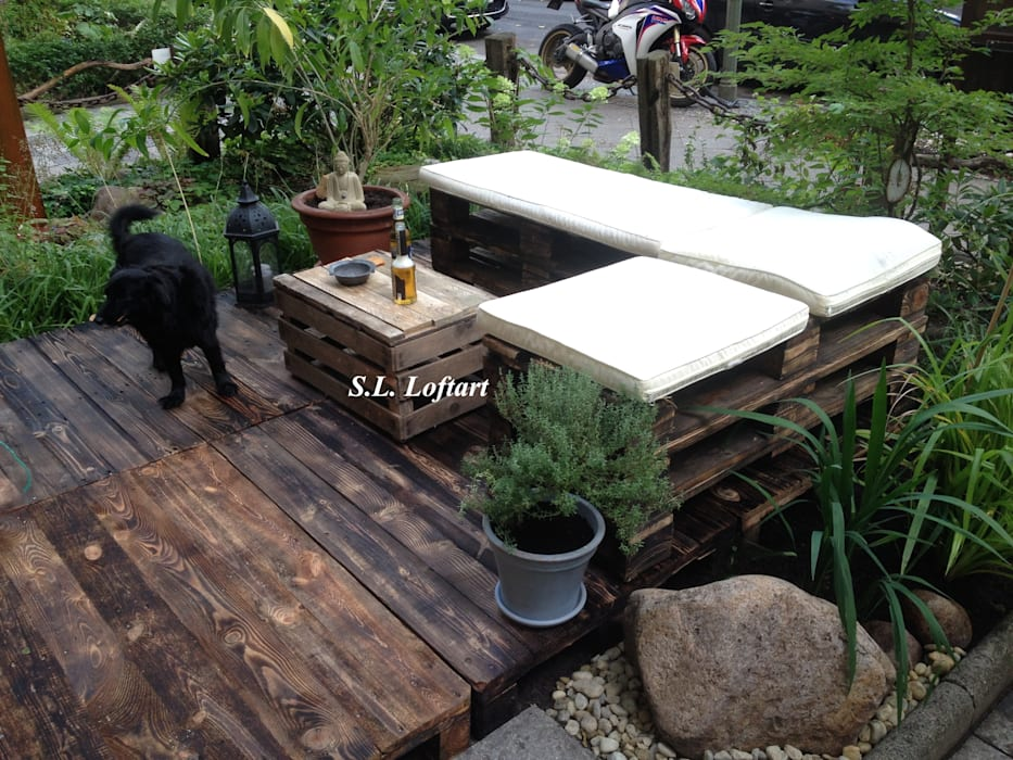 Jardin rustique par homify Rustique