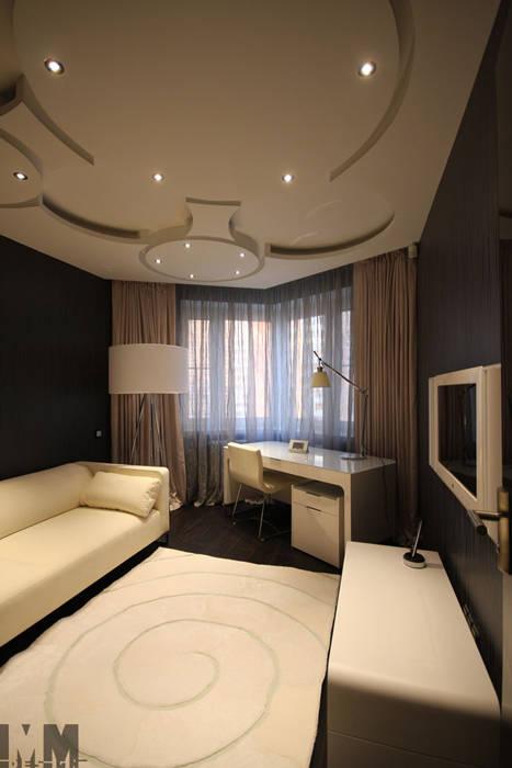 Чёрное и белое Рабочий кабинет в стиле минимализм от ММ-design Минимализм