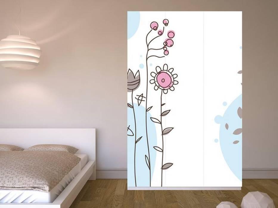Möbelfolie Ikea Pax Schrank Flowers Schlafzimmer Von Creatisto