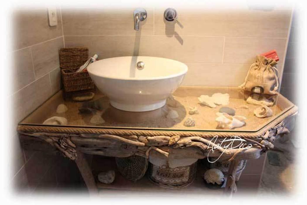 Meuble de salle de bain en bois flotté par natydeco ...