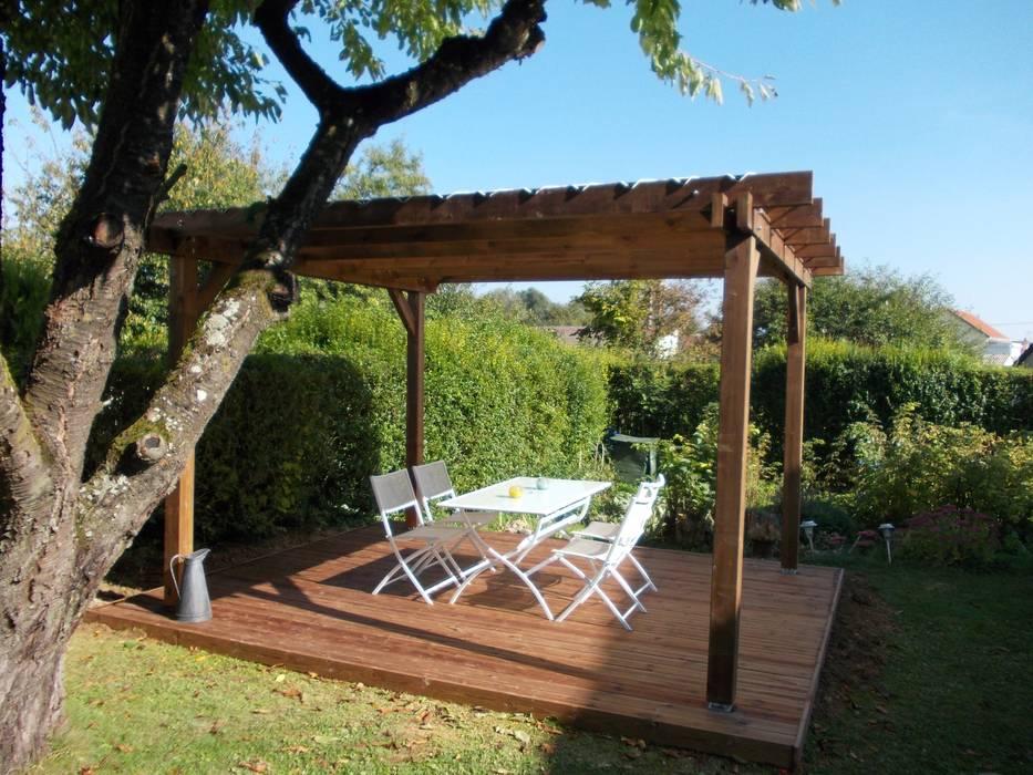 Détente au jardin Balcon, Veranda & Terrasse rustiques par Ledoux Jardin Rustique