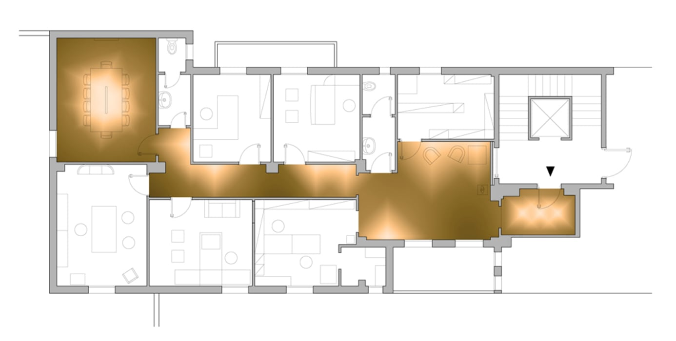 Planimetria Studio moderno di BRENSO Architecture & Design Moderno