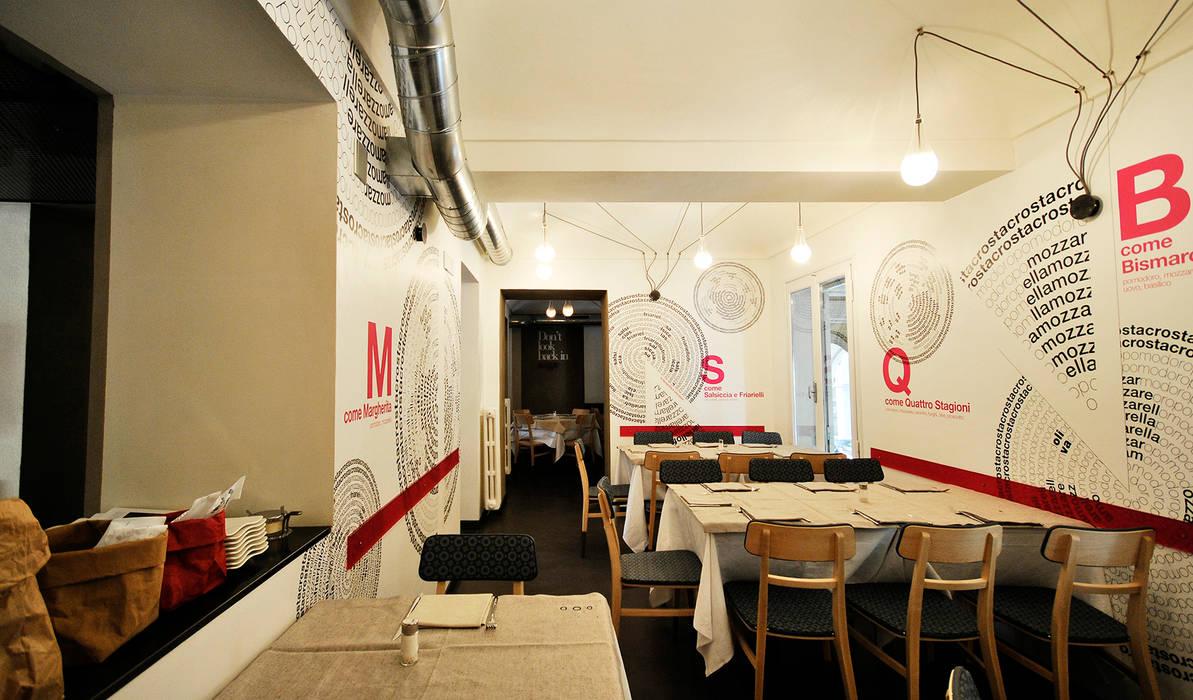 La tipografia è una pizza, progetto di Undesign Gastronomia di yetmatilde