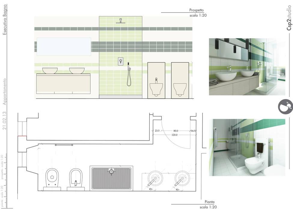 Esecutivo bagno: Case in stile  di CSP2 studio
