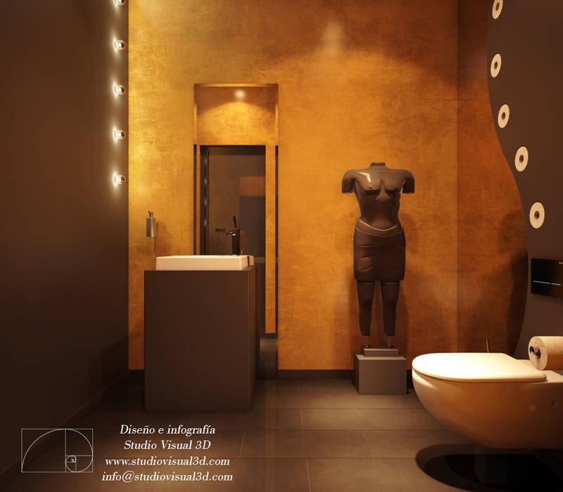Baño de cortesía Baños de estilo moderno de Studio Visual 3d Moderno