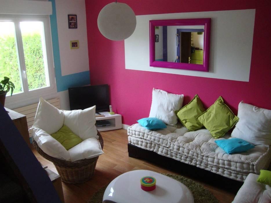 Salon vue sur fenêtre Maisons originales par Katia Rocchia Home Designer Éclectique
