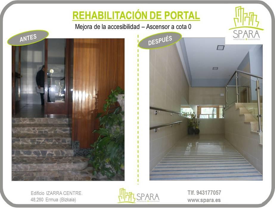 Rehabilitación de portal: Pasillos y vestíbulos de estilo  de SPARA
