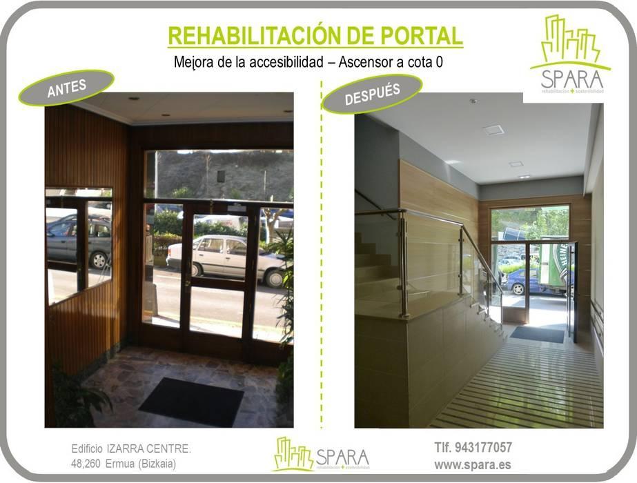 Rehabilitación de portal SPARA Pasillos, vestíbulos y escaleras de estilo moderno