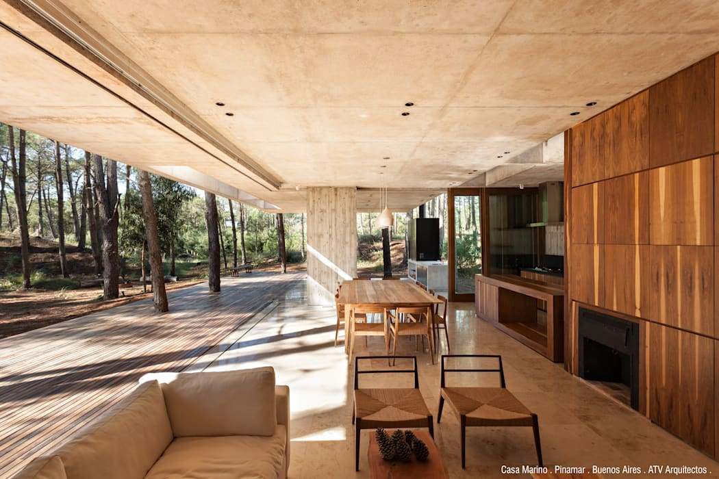 Гостиная в . Автор – ATV Arquitectos, Модерн