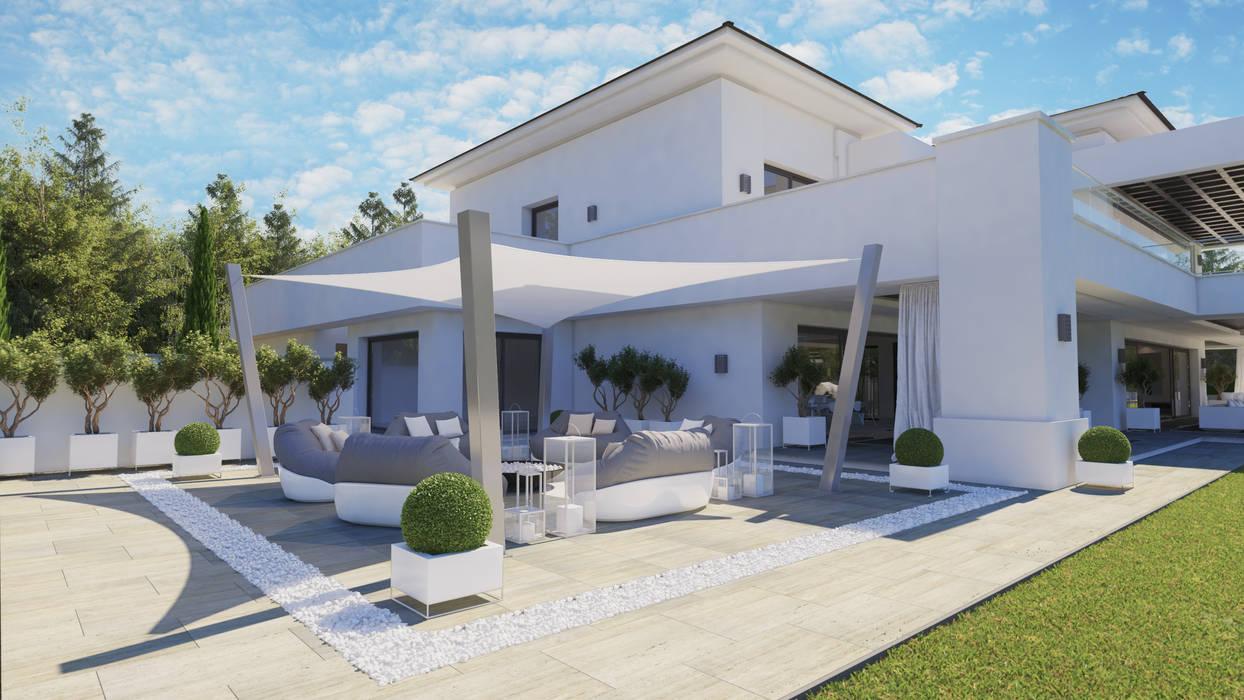 Doñana Chill out terrace de Ark Arquitectos Moderno