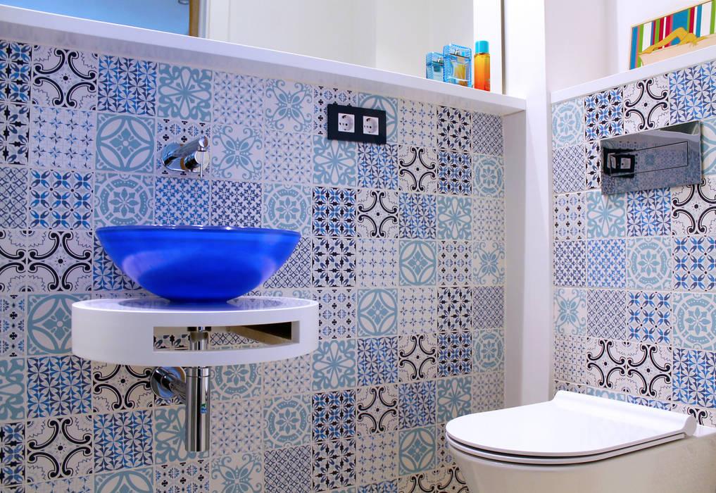 lauraStrada Interiors Mediterranean style bathrooms