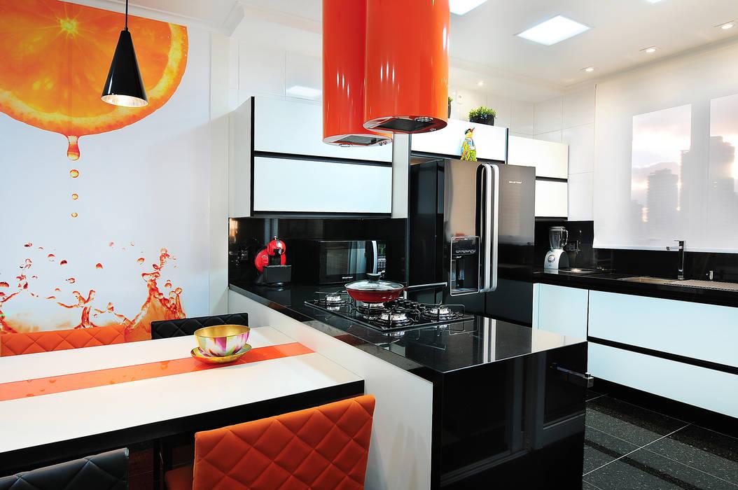 PROJETO IDENTIDADE BRASILEIRA - COZINHA: Cozinhas  por Adriana Scartaris design e interiores