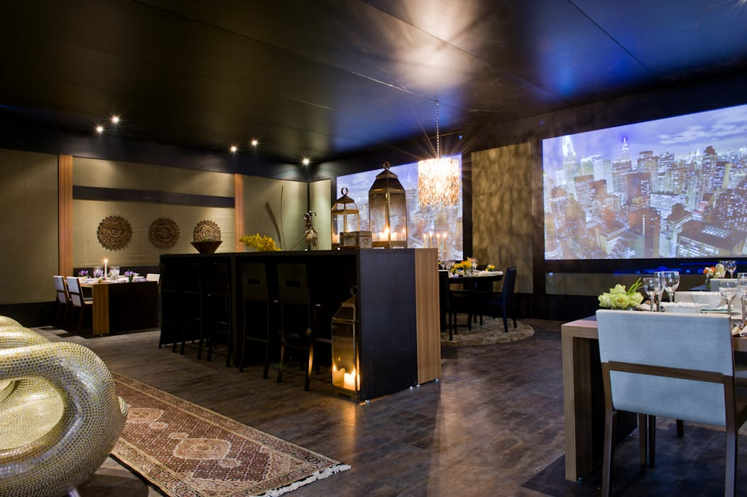 RESTAURANTE SENSE EXPERIENCE: Hotéis  por Adriana Scartaris: Design e Interiores em São Paulo