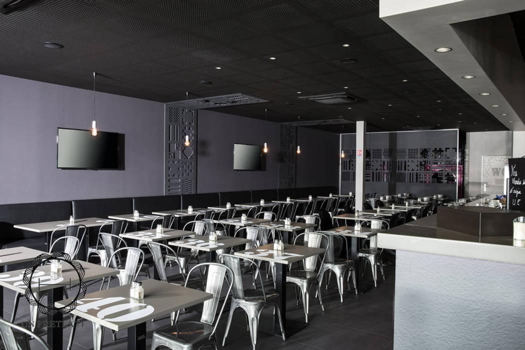 conception et architecture du  restaurant Frit'House: Restaurants de style  par Soraya Deffar / Un Pretexte