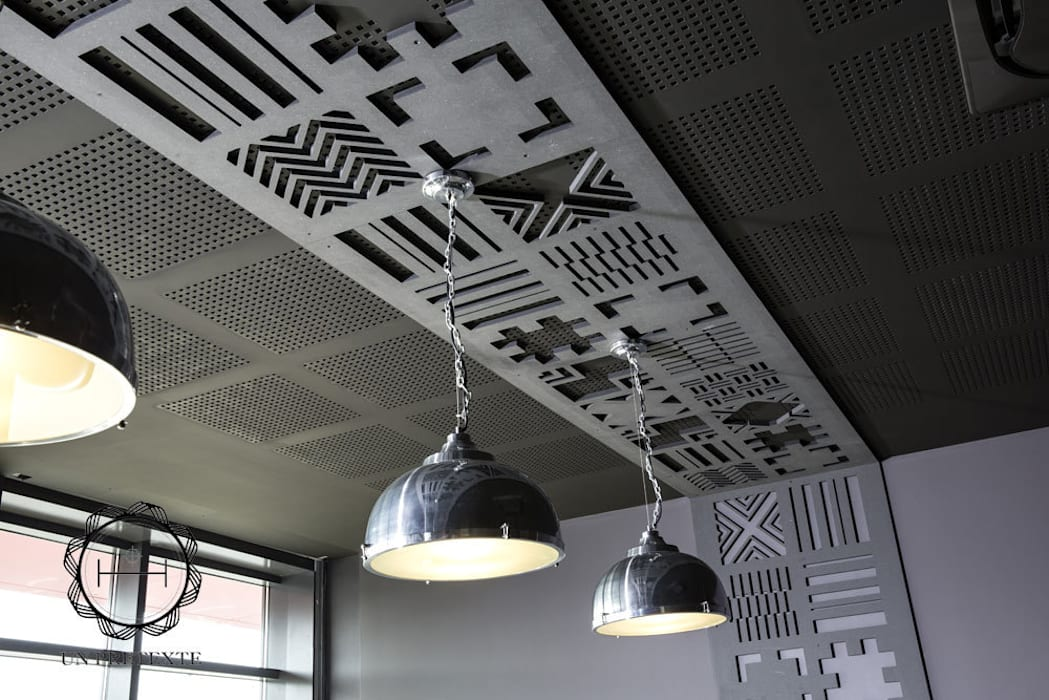 Plafond du restaurant: Restaurants de style  par Soraya Deffar / Un Pretexte