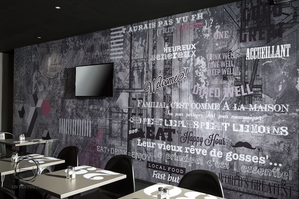 salle du restaurant: Restaurants de style  par Soraya Deffar / Un Pretexte