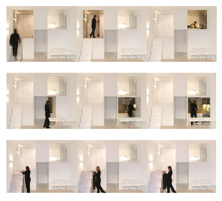 Loft DUQUE DE ALBA. Madrid Beriot, Bernardini arquitectos Comedores de estilo minimalista