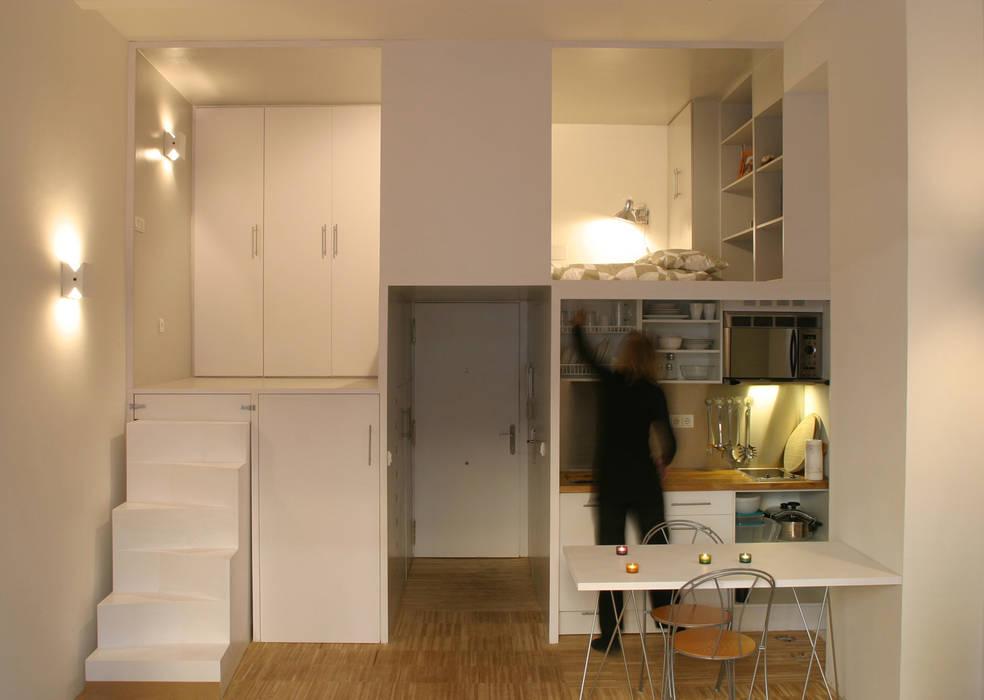 Loft DUQUE DE ALBA. Madrid: Cocinas de estilo  de Beriot, Bernardini arquitectos, Minimalista