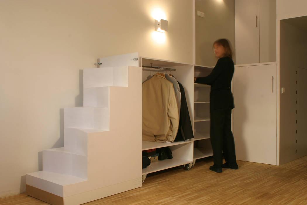 Loft DUQUE DE ALBA. Madrid Dormitorios de estilo minimalista de Beriot, Bernardini arquitectos Minimalista