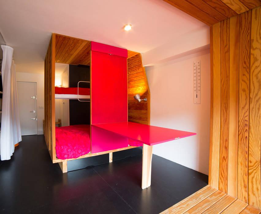 Refugio PUERTO DE NAVACERRADA. Madrid Beriot, Bernardini arquitectos Casas de estilo minimalista