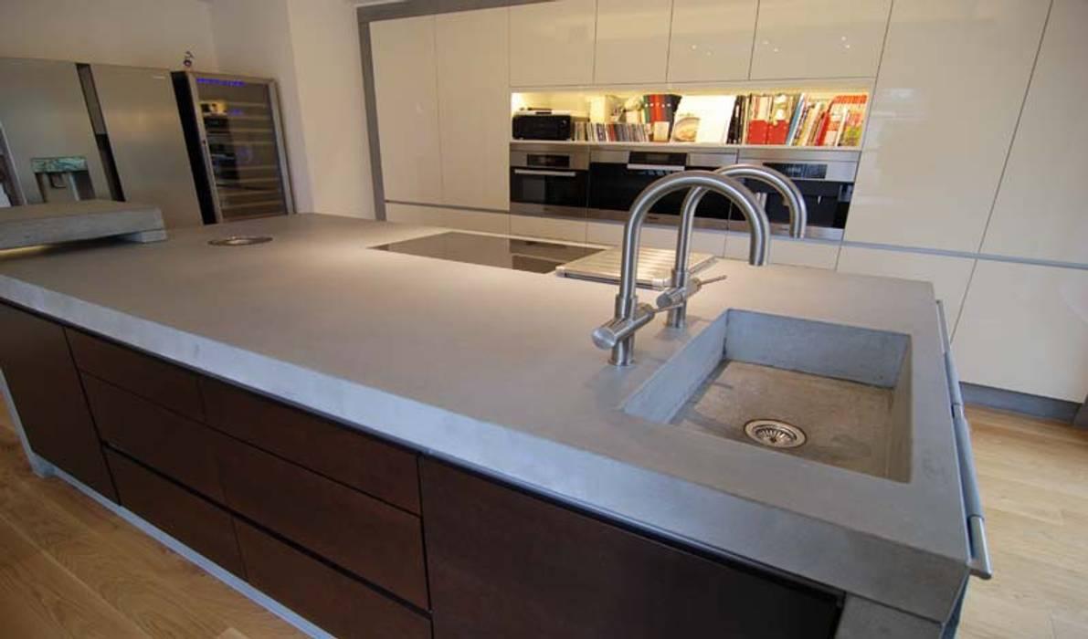 Arbeitsplatte aus beton: küche von material raum form, | homify