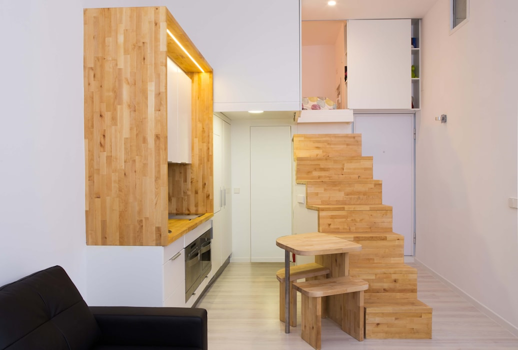 Loft ZURITA. Madrid Cocinas de estilo minimalista de Beriot, Bernardini arquitectos Minimalista