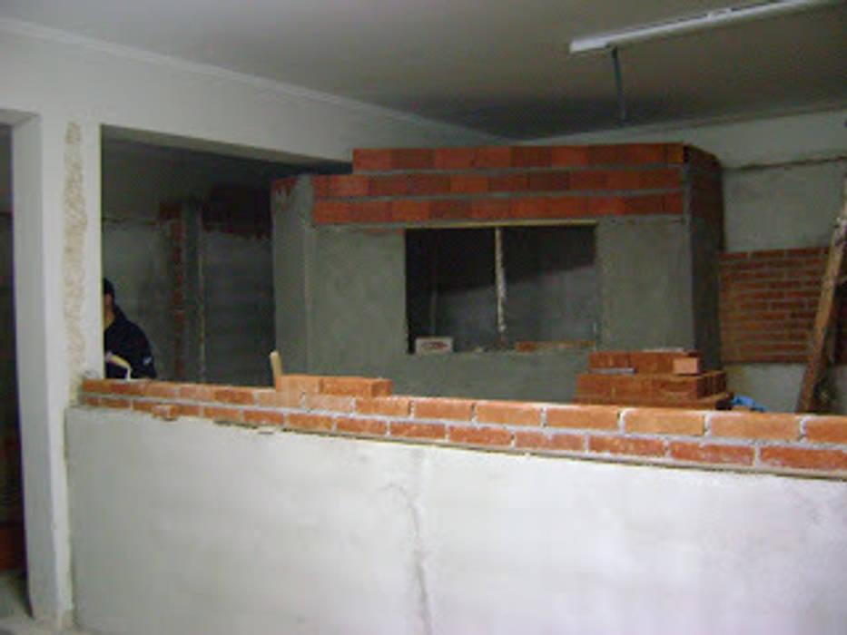 Durante a obra:   por NR arquitetura interiores,Eclético
