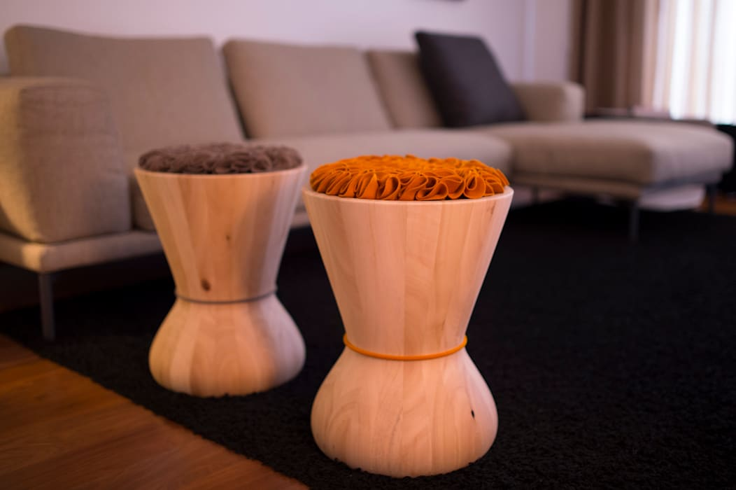 modern  by homify, Modern Solid Wood Multicolored