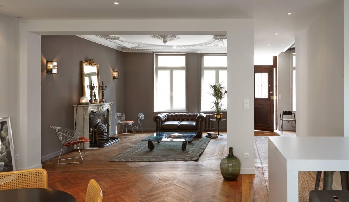 1305 PLUX_vue d'ensemble Maisons modernes par Architecte PLUX Moderne