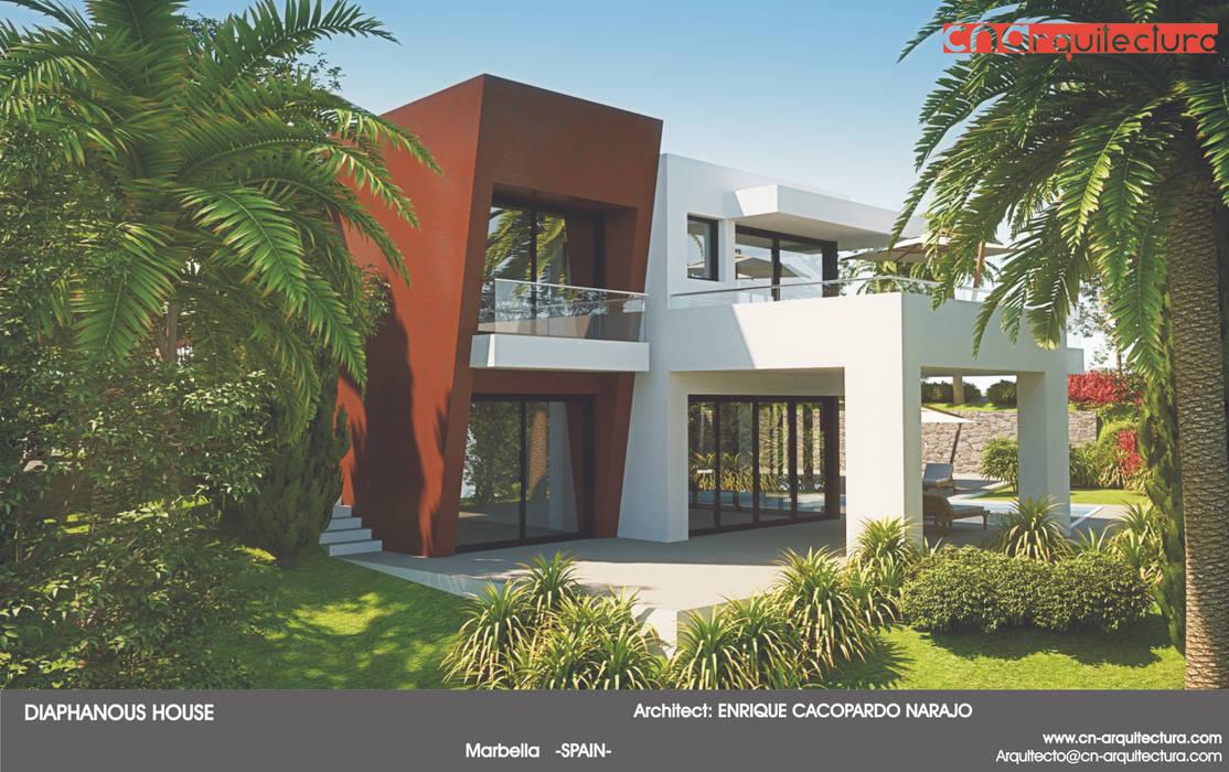Diaphanous House: Casas de estilo minimalista de CN ARQUITECTURA