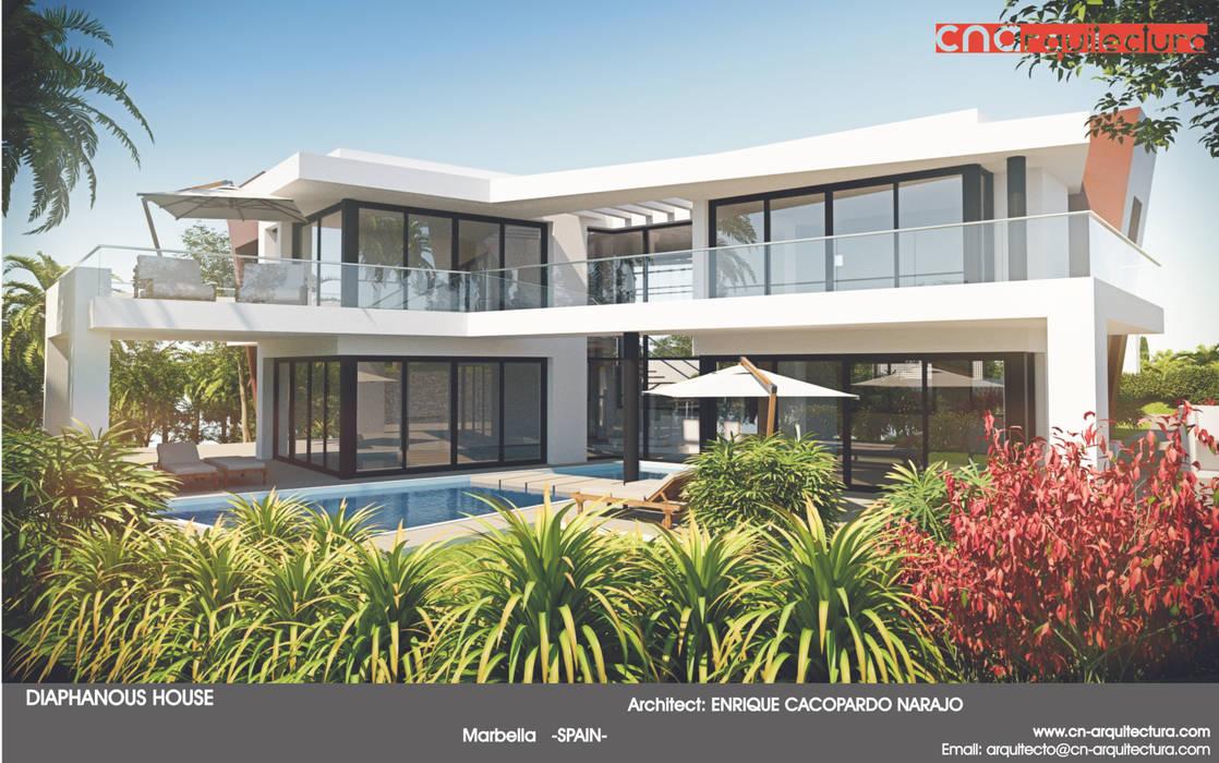 Diaphanous House CN ARQUITECTURA Casas de estilo minimalista