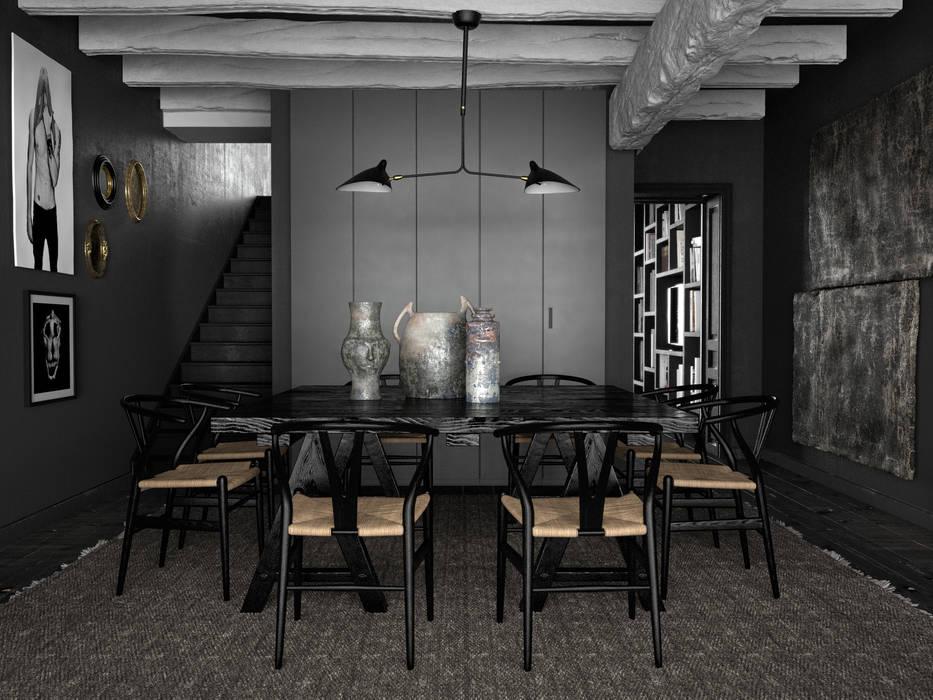 Vintage apartments - Living room Sala da pranzo moderna di SAE Moderno