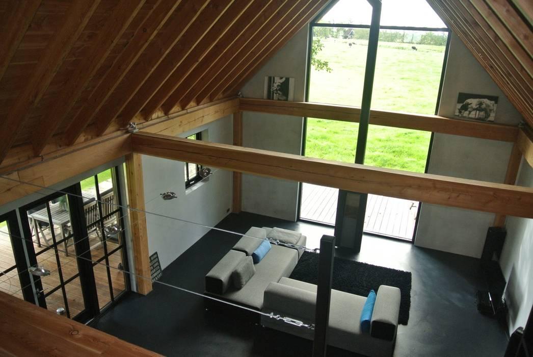 Woningaanbouw landelijke woonkamer door for Landelijke woonkamer foto s