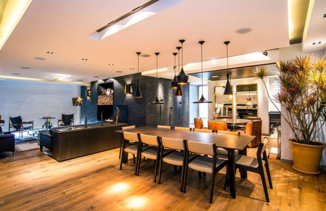 Veramonte I: Comedores de estilo  por Sobrado + Ugalde Arquitectos,