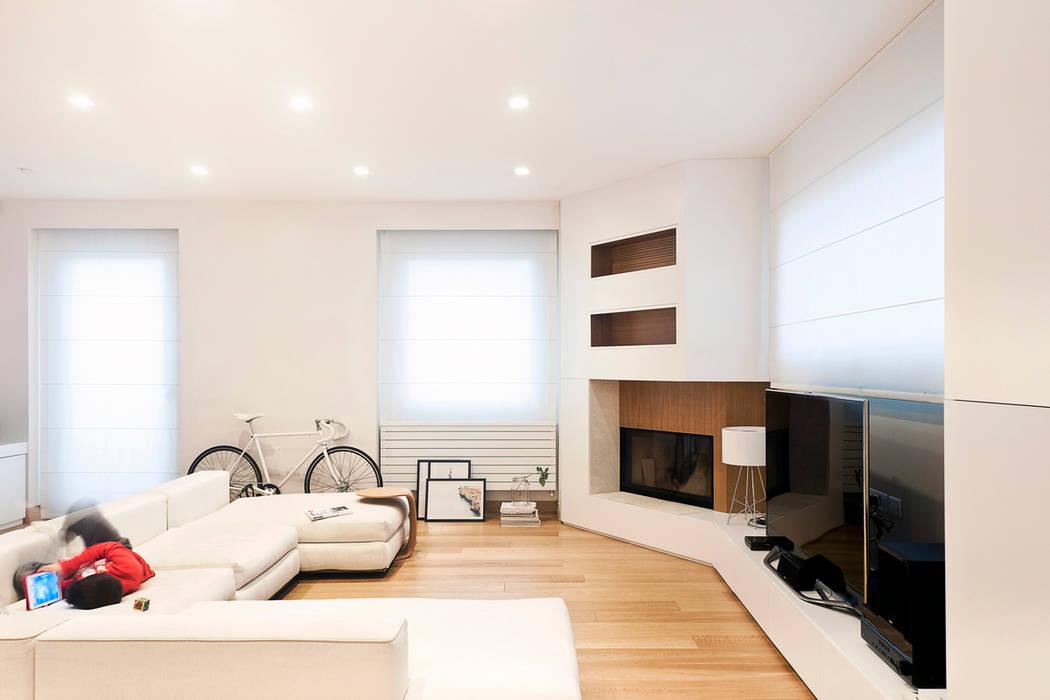 Salas de estar modernas por tramas homify for Soggiorno ad angolo