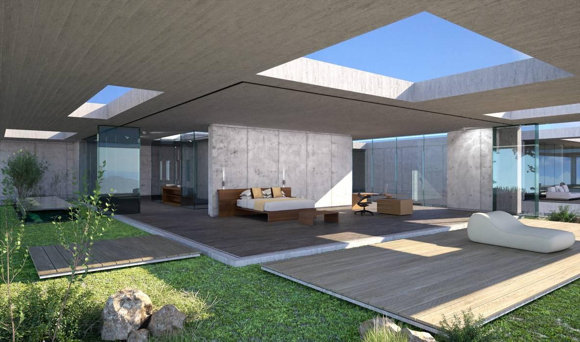 Proyecto 3D  - Villa moderna: Casas de estilo moderno de Realistic-design