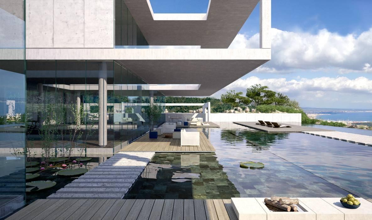 Proyecto 3D  - Villa moderna: Casas de estilo  de Realistic-design