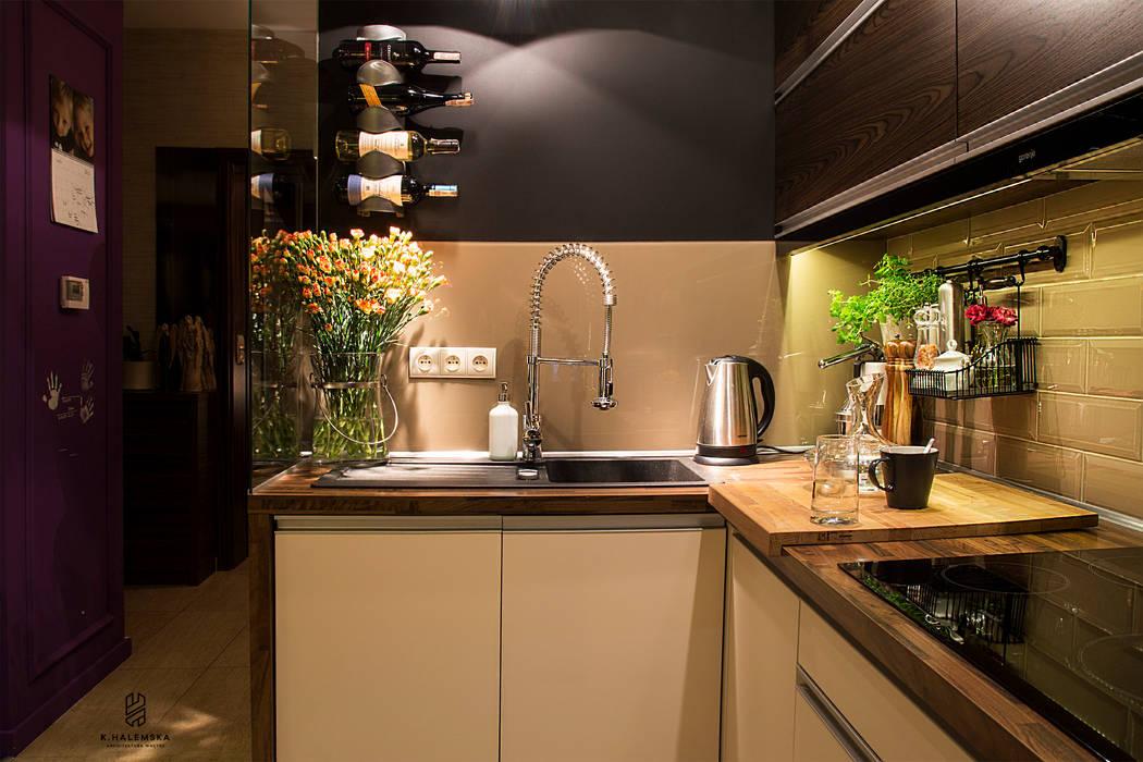 Mieszkanie 1/9: styl , w kategorii Kuchnia zaprojektowany przez k.halemska