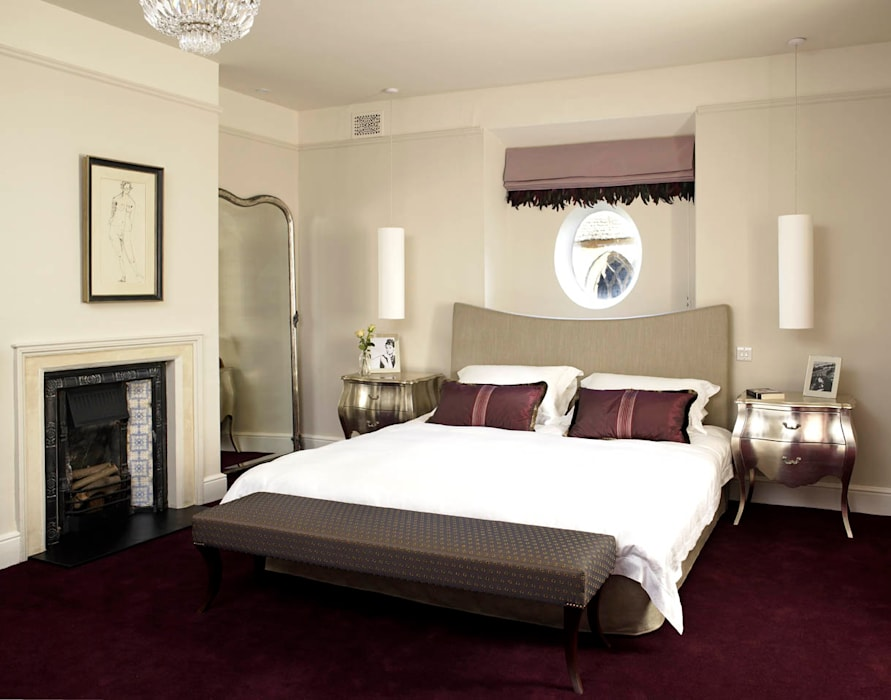 Bedroom, The Wilderness, Wiltshire, Concept Interior Eclectic style bedroom by Concept Interior Design & Decoration Ltd Eclectic