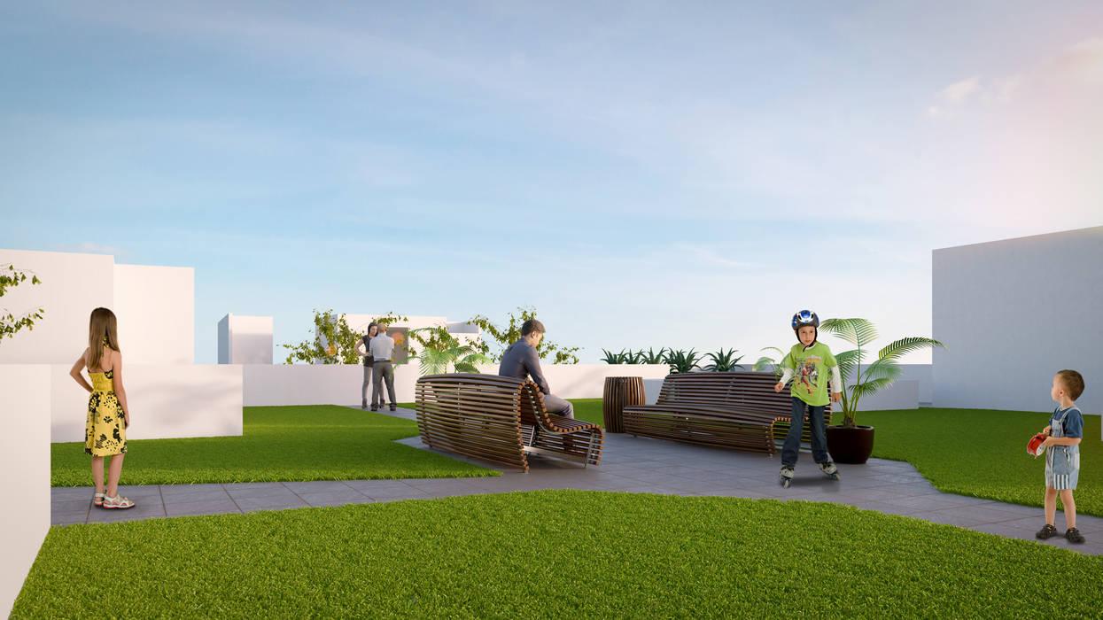 Roof Garden: Casas de estilo moderno por RECON Arquitectura