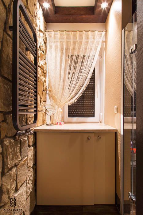 Projekt 48 _ łazienka na parterze Wiejska łazienka od k.halemska Wiejski