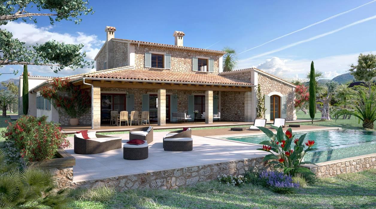 Rustikale Häuser von Realistic-design Rustikal