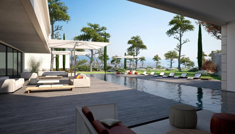 Proyecto 3D - Paisajismo Jardines de estilo mediterráneo de Realistic-design Mediterráneo
